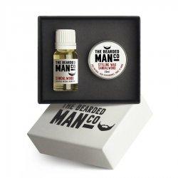 Bearded Man, zestaw: olejek do brody 10ml + wosk do wąsów 15g, Sicilian Lemon