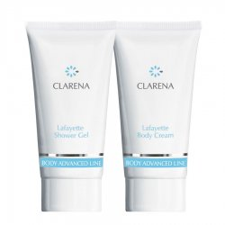 Clarena Advanced Body Line LaFayette, mini zestaw do skór atopowych Body Cream 30ml+Shower Gel, 30ml