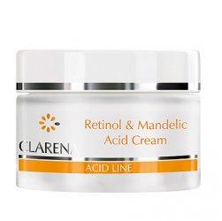 Clarena Acid Line, krem z retinolem i kwasem migdałowym dla skór dojrzałych i poszarzałych, 50ml