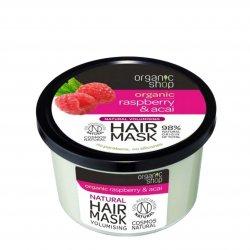 Organic Shop, naturalna maska zwiększająca objętość włosów Malina&Acai, 250ml