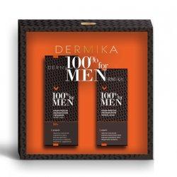 Dermika, zestaw prezentowy 100% for Men, krem przeciw zmarszczkom i bruzdom 50+ 50ml + krem pod oczy 15ml