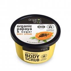 Organic Shop, naturalny regenerujący peeling do ciała Papaja, 250ml