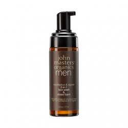 John Masters Organics, pianka do mycia twarzy i do golenia 2w1 dla mężczyzn, 177ml