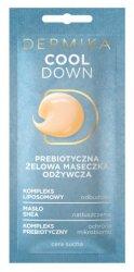 Dermika Cool Down, prebiotyczna żelowa maseczka piękności, 10ml