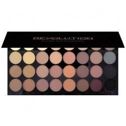Makeup Revolution, paleta 32 matowych cieni do powiek, Beyond Flawless matte
