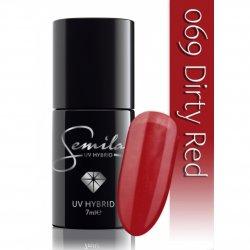 Semilac lakier hybrydowy 069 Dirty Red, 7ml