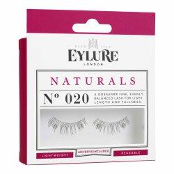 Eylure Naturals, sztuczne rzęsy z klejem, efekt naturalny, nr 020