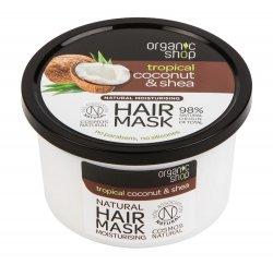 Organic Shop, naturalna nawilżająca maska Kokos&Shea, 250ml