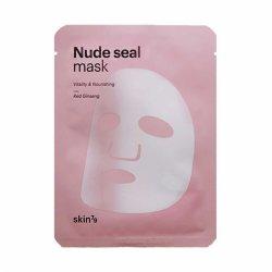 SKIN79, Nude Seal Mask - Red Ginseng, maska w płachcie z czerwonym żeń-szeniem, 25g