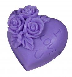 LaQ, mydło glicerynowe, serduszko I love U