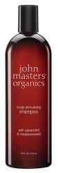 John Masters Organics, szampon do włosów wypadających i osłabionych, Mięta i Wiązówka Błotna, 473ml