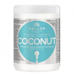 Kallos KJMN Coconut, maska do włosów wzmacniająca, 1000ml