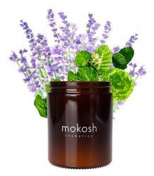 Mokosh, roślinna świeca sojowa, Sielska łąka, 140g