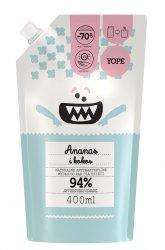 Yope, mydło dziecięce antybakteryjne Ananas i Kokos, refill, 400ml