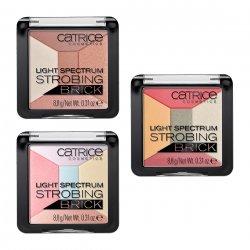 Catrice, Light Spectrum Strobing Brick, paleta pięciu rozświetlaczy
