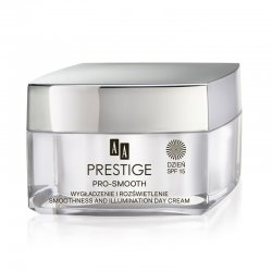 AA Prestige Pro Smooth, wyg�adzaj�co-roz�wietlaj�cy krem na dzie�, SPF 15, 50ml