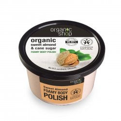 Organic Shop, naturalny odmładzający peeling Słodkie migdały, 250ml