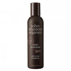 John Masters Organics, szampon do włosów zniszczonych, Miód i Hibiskus, 177ml