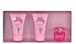 Versace Bright Crystal Absolu, zestaw perfum edp 5ml + 25ml balsam + 25ml żel pod prysznic W)