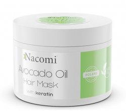 Nacomi, maska do włosów z olejem avocado i keratyną, 200ml