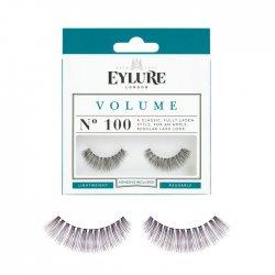 Eylure Volume, sztuczne rzęsy z klejem, efekt pogrubienia, nr 100
