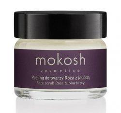 Mokosh, aktywny peeling do twarzy, róża z jagodą, 15ml