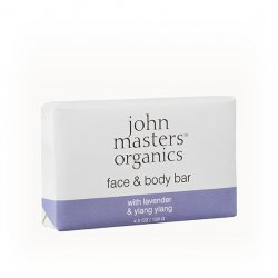 John Masters Organics, mydło do ciała, Lawenda i Ylang Ylang, 128g