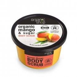 Organic Shop, naturalny rozświetlający peeling do ciała Mango, 250ml