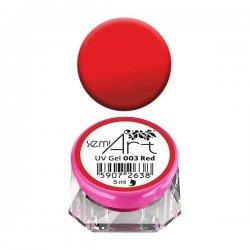 Semilac Semi-Art, żel do zdobień, 003 Red, 5ml