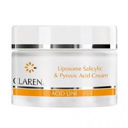 Clarena Acid Line, krem liposomowyz kwasami: salicylowym i pirogronowym cera tłusta i mieszana, 50ml