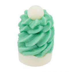 Bomb Cosmetics, kremowa babeczka do kąpieli, Czapa Elfa, 50g
