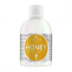 Kallos KJMN, miodowy szampon regenerujący, 1000ml