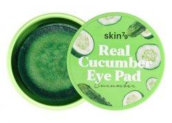 SKIN79 Real Cucumber Eye Pad, ogórkowe płatki nawilżająco-kojące na oczy, 30 sztuk