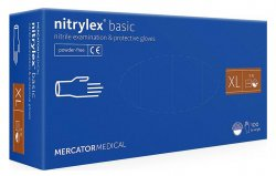 Mercator Nitrylex Basic, rękawiczki nitrylowe, niebieskie, rozmiar XL, 100szt