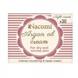 Nacomi, krem arganowy z kwasem hialuronowym 30+ na noc, 50ml