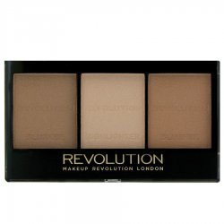 Makeup Revolution, paleta do konturowania twarzy, Ultra Light Medium
