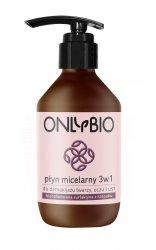 OnlyBio, micelarny płyn do demakijażu 3w1, 250ml