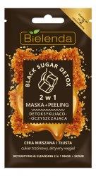 Bielenda Black Sugar Detox, detoksykująco-nawilżająca maska + peeling, 8g