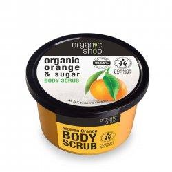 Organic Shop, naturalne nawilżający peeling do ciała Pomarańcza, 250ml