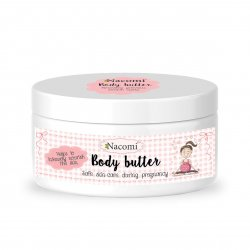 Nacomi, intensywnie pielęgnujące masło do ciała dla kobiet w ciąży, 100g