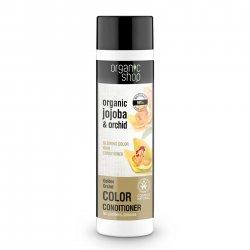 Organic Shop, naturalna odżywka do włosów farbowanych Złota Orchidea, 280ml