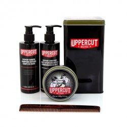 Uppercut Deluxe, zestaw do włosów: szampon+odżywka+pomada Matt+grzebień