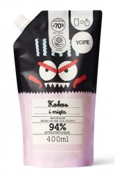 Yope, mydło dla dzieci, Kokos i mięta, 400ml, refill