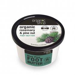 Organic Shop, naturalne odświeżające masło do stóp Rozmaryn&Sosna, 250ml