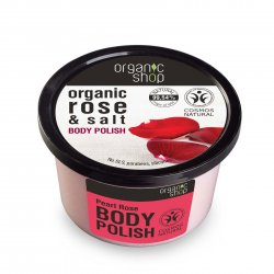 Organic Shop, naturalny odbudowujący peeling do ciała Róża, 250ml