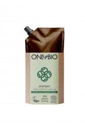 OnlyBio, szampon do włosów przetłuszczających się, refill pack, 500ml