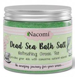 Nacomi, sól do kąpieli - Odświeżająca zielona herbata, 450g