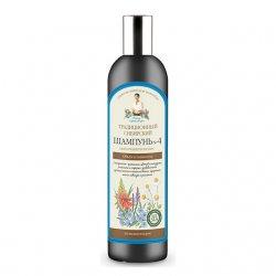 Babuszka Agafia, szampon do włosów, kwiaty i propolis, 550ml