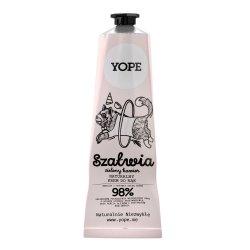 Yope, naturalny krem do rąk, Szałwia i Zielony Kawior, 100ml