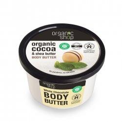Organic Shop, naturalne zmiękczające masło do ciała Biała czekolada, 250ml